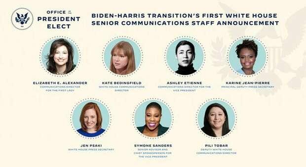 Biden nomina primo team di comunicazione tutto al femminile per la Casa Bianca