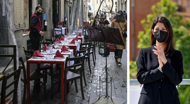 Ristoranti e bar a Roma, Raggi: «Potranno occupare gli spazi esterni fino al 31 dicembre»
