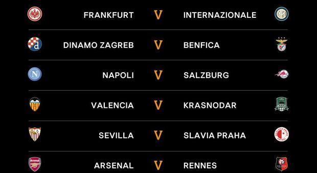 varietà larghe all'ingrosso online stili di moda Europa League, ecco gli accoppiamenti degli ottavi: Eintracht ...