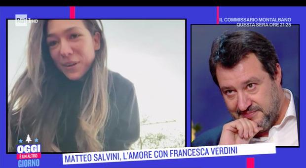 Matteo Salvini si commuove per il videomessaggio della fidanzata Francesca Verdini: «Ti amo»