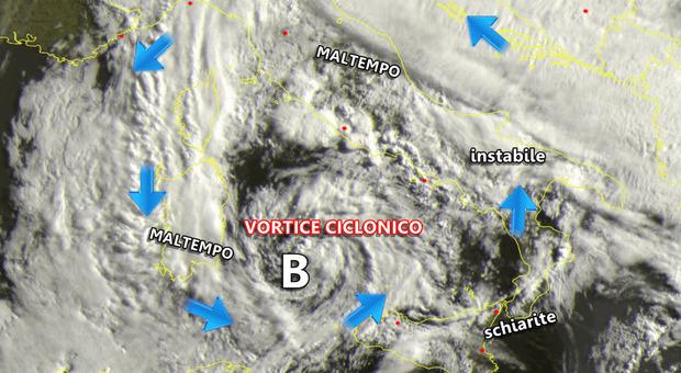 Allerta meteo, la scala della protezione civile