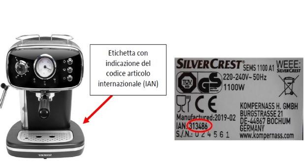 Lidl richiama macchina per caffè Silvercrest: rischio scossa elettrica