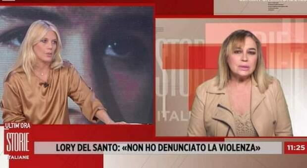 Lory Del Santo a Storie italiane sulla violenza subita: «Non sono riuscita a denunciare»