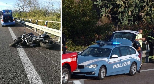 Incidente in moto contro il guardrail: lui è grave, morta l22 anni