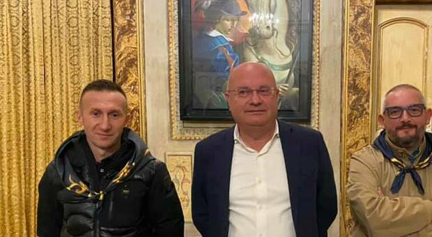 Giostra della Quintana di Foligno, Daniele Scarponi è il Furente del rione Contrastanga