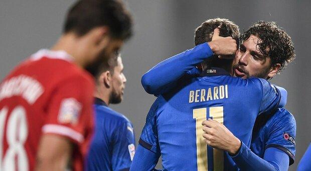Italia-Polonia 2-0: decidono Jorginho e Berardi. Azzurri ad un passo dalla Final Four