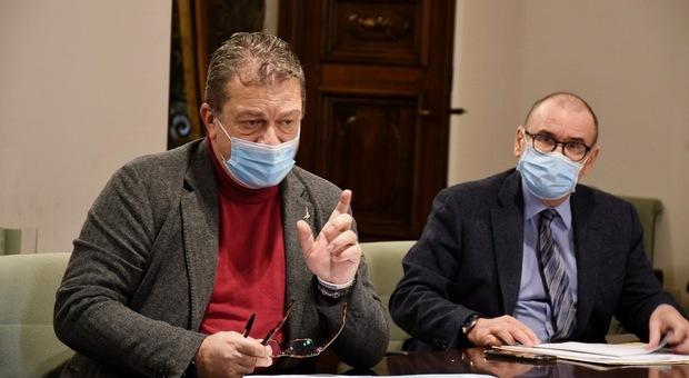 L'assessore alla Sanità Luca Coletto con il direttore Dario