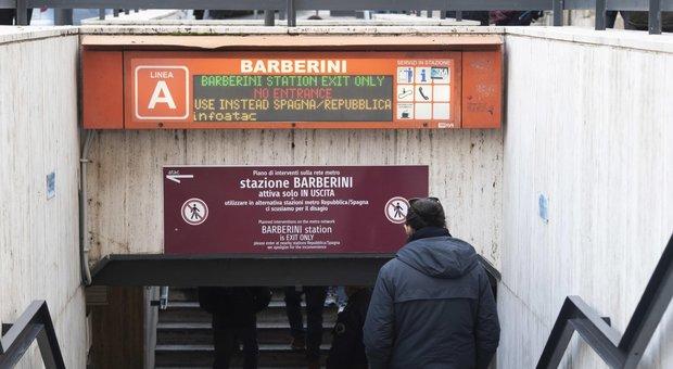 Roma, riapre anche in entrata la fermata Barberini