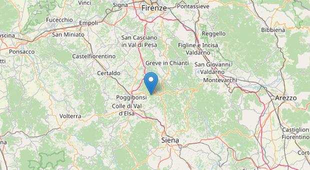 Terremoto a Siena poco dopo l'alba, scossa di magnitudo 3.1