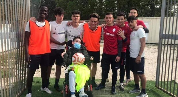 Mehmet il tifoso speciale: il bel regalo dalla Flaminia calcio Civita