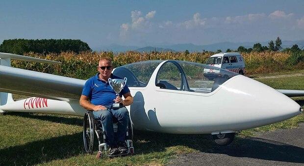Disabile in volo con l aliante: un grande secondo posto al Campionato italiano di Lucca