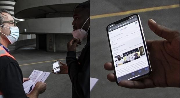 Inter-Borussia, Thuram si cerca su Google: «Ecco il mio documento»