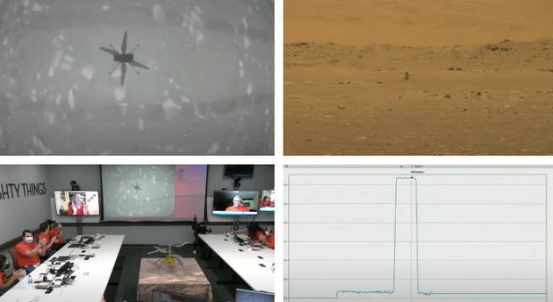 Marte, Ingenuity prima foto dello storico decollo del minielicottero: diretta Nasa - Il video girato da Perseverance