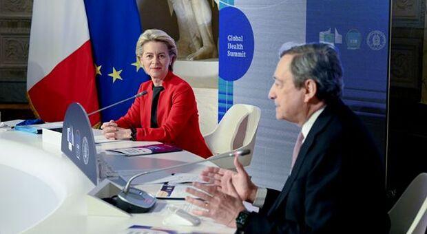 Recovery, su il sipario: per l'ok von der Leyen-Draghi a Cinecittà