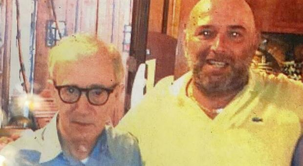 Checco dello Scapicollo il ristorante delle celebrità, nella foto Woody Allen