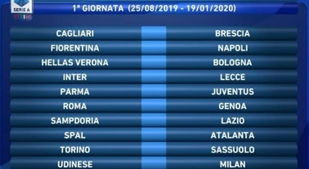 Calendario Serie A 1 Giornata.Ecco La Serie A Piu Originale Di Sempre Subito Lazio Roma