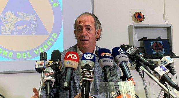 Luca Zaia: «Con Rt a 1,1 siamo la prima regione». In Veneto oggi altri 108 morti
