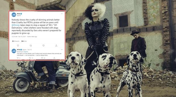 Gli animalisti contro Crudelia: «Rappresenta la crudeltà contro i cani»