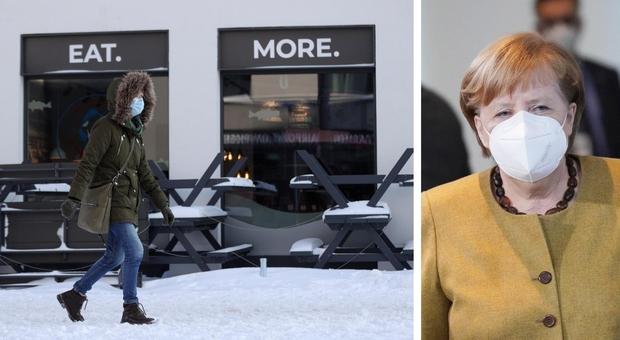 Covid, la Germania prolunga il lockdown: ipotesi 14 marzo. Merkel: «La variante preoccupa»