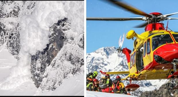 Valanga a Cortina travolge sciatori: morto un 23enne, illeso il fratello che era con lui. Si temono altre vittime