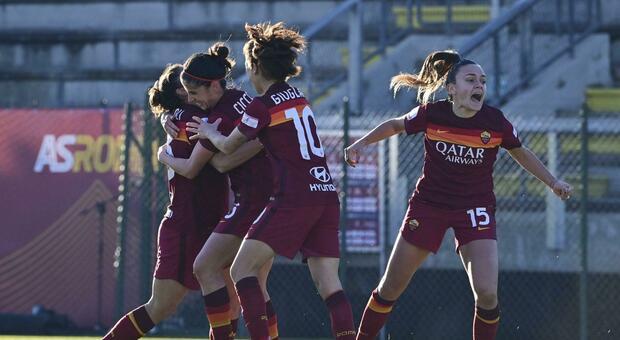 Prima di ritono: Roma in casa contro il Sassuolo, per le giallorosse è vietato sbagliare contro la terza forza del campionato