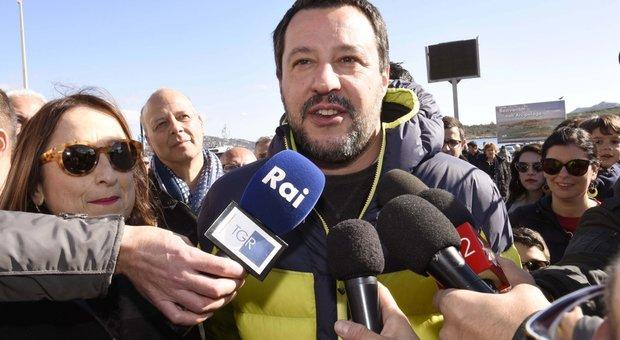 Matteo Salvini in Sardegna per il tour elettorale
