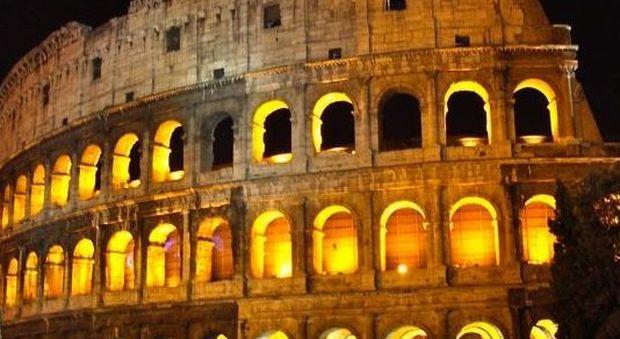 Roma il colosseo splende di più: rinnovato impianto di illuminazione