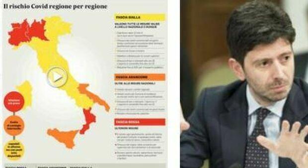 Dpcm, Calabria impugna l'ordinanza. Tensione tra Regioni e governo. Speranza: «Serve responsabilità»