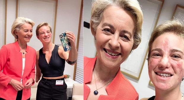 Bebe Vio incontra Ursula von der Leyen al Parlamento europeo: «La prossima volta facciamo da me con una carbonare»