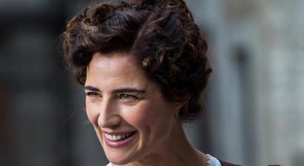 Luisa Ranieri sul set della fiction Luisa Spagnoli
