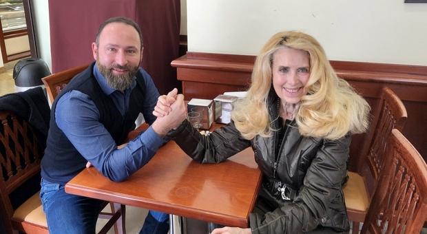 Michele Vanossi con Marina Morgan
