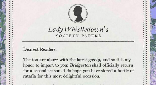 """Bridgerton, seconda stagione. L'autrice svela tutti i gossip come """"Lady Whistledown"""""""