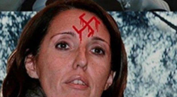 Elena Donazzan, responsabile nazionale del Dipartimento Lavoro e Crisi Aziendali di FdI, sfregiata nel fotomontaggio