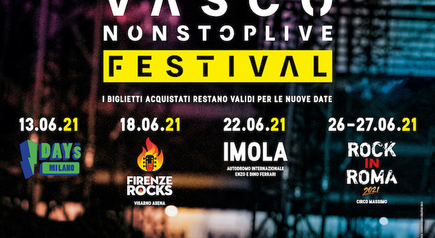 Vasco Rossi, tutti i concerti previsti per giugno spostati al 2022