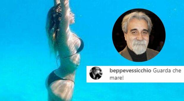 Diletta Leotta sirenetta sott'acqua, il commento di Vessicchio è esilarante: «Guarda che mare!»