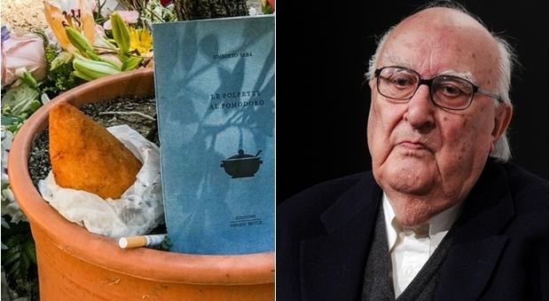 Anche un arancino sulla tomba di Camilleri: l'omaggio dei suoi lettori siciliani