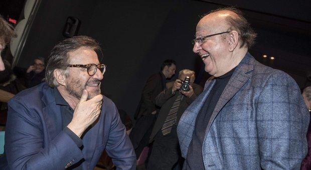 Massimo Boldi e Christian De Sica di nuovo insieme al compleanno di Paolo Conticini