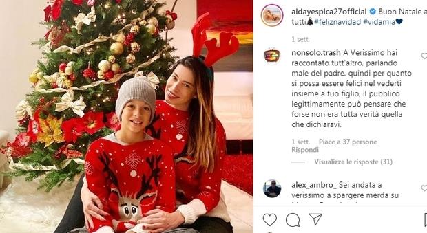Aida Yespica, su Instagram la foto con Aron: «Matteo Ferrari me l'ha dato per un giorno solo»