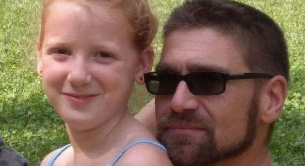 Filippo Bonin e la figlioletta
