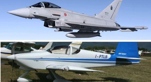 Aereo sospetto nei cieli italiani intercettato da due caccia Eurofighter
