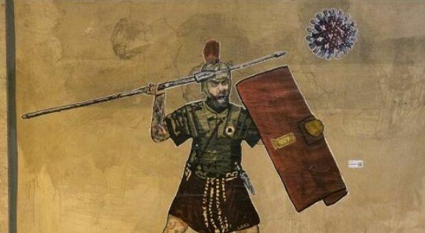 De Rossi combatte contro il Coronavirus: ecco il murale della street artist Laika