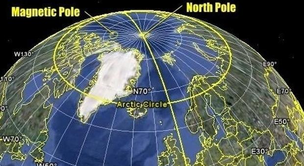 Polo Nord magnetico in fuga verso la Siberia, scienziati preoccupati: «Manderà in tilt le app»