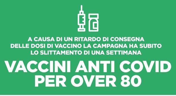 Vaccino, nel Lazio slitta di 7 giorni il piano per gli over 80. «Prenotazioni dal 1° febbraio»