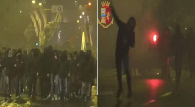 Lazio, scontri tra tifosi e polizia durante i festeggiamenti del compleanno biancoceleste