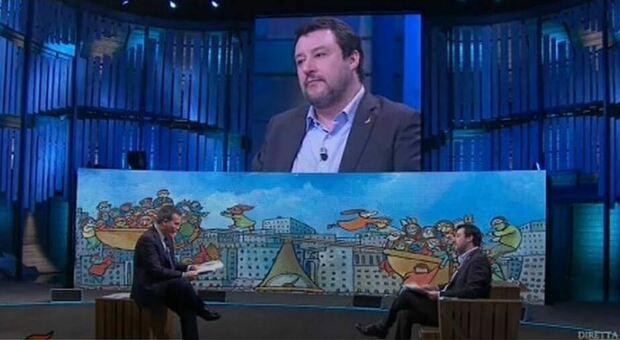 Lite su La7 per Recovery Plan. Salvini: «Già bocciato dall'Europa». Floris: «Non è vero»