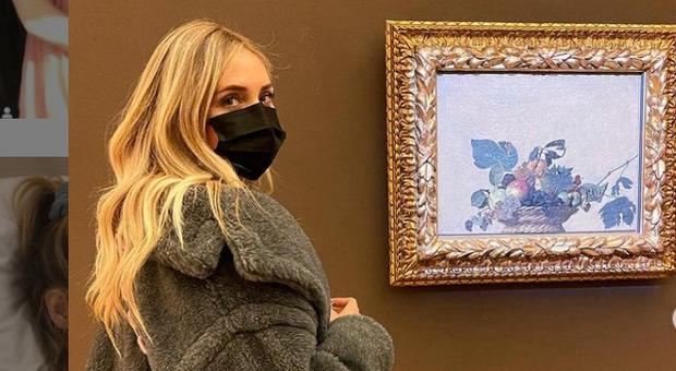 Chiara Ferragni alla Pinacoteca Ambrosiana (Instagram)