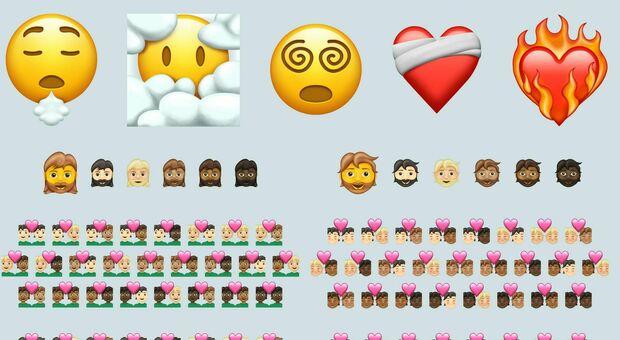 """Arrivano le nuove """"faccine"""": c'è anche quella per il vaccino tra le emoji 2021"""