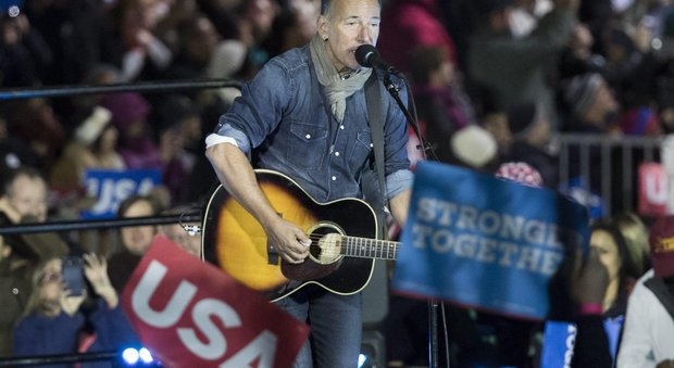 Elezioni Usa, Springsteen, Bon Jovi Madonna e Lady Gaga sul palco per Hillary Clinton