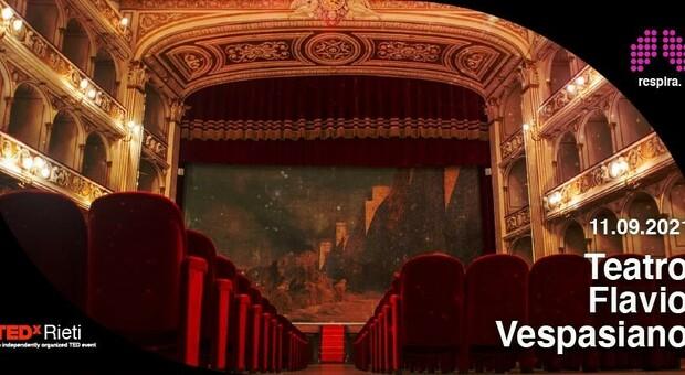 """TedxRieti, si """"Respira"""" l'11 settembre al Teatro Flavio Vespasiano"""