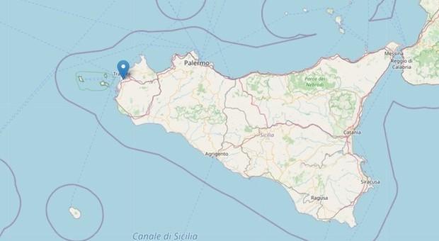 Terremoto in Sicilia, scossa di magnitudo 3.3 vicino a Trapani